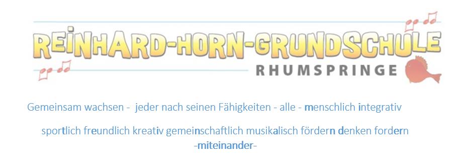 Logo Reinhard-Horn-Grundschule Rhumspringe©Reinhard-Horn-Grundschule Rhumspringe